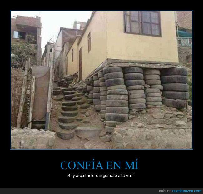 casa,construcción,neumáticos