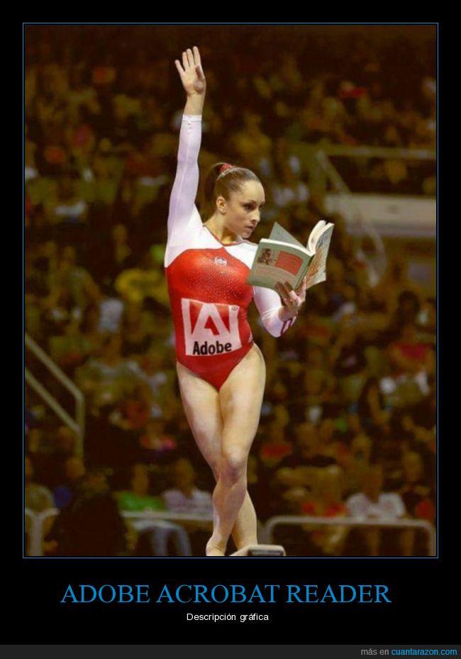 acrobat reader,acróbata,gimnasta