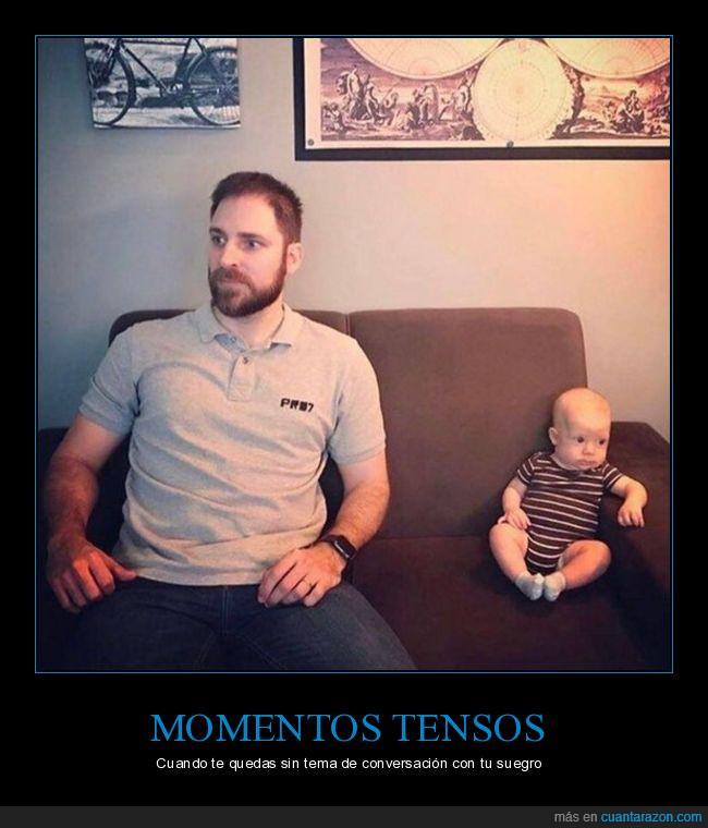 bebé,conversación,padre,suegro