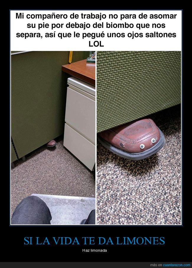 compañero,oficina,ojos saltones,zapatos