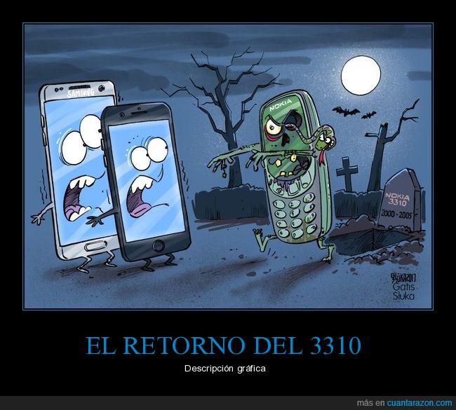 móviles,nokia 3310,retorno,zombie