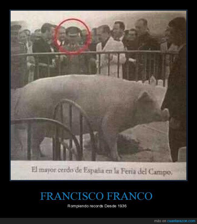 Cerdo,El mejor pie de página de la historia,Feria del Campo,Francisco Franco,Snowball