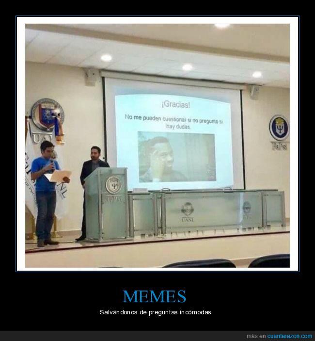clase,meme,presentación,roll safe