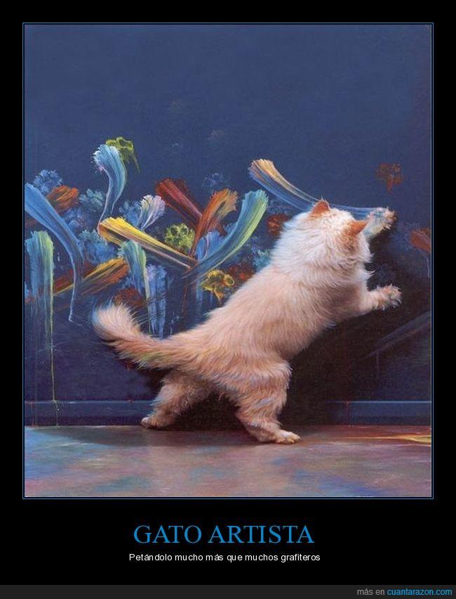 garra,gato,pintura