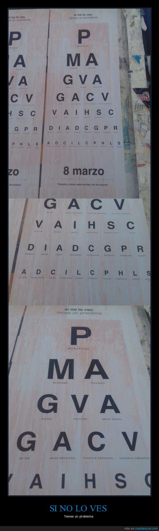 8 de marzo,cartel,letras,vista