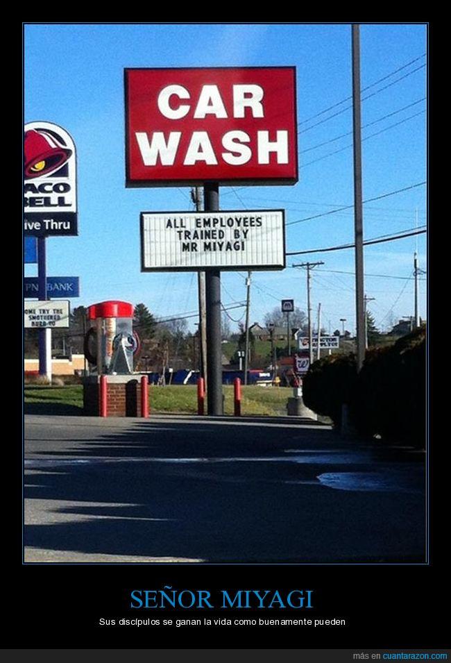 car wash,lavado de coches,miyagi