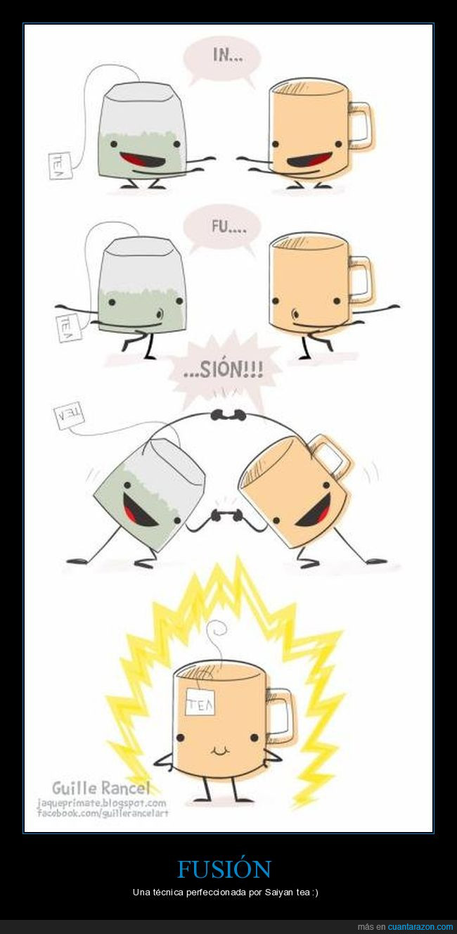 fusión,infusión,Saiyan,té