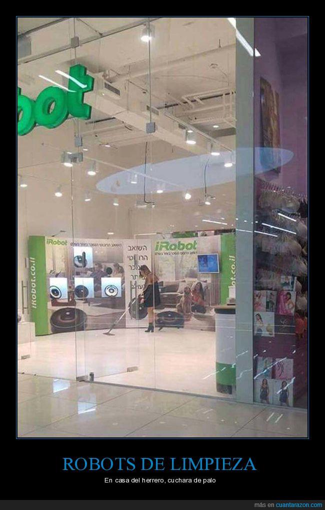 limpieza,robot,tienda