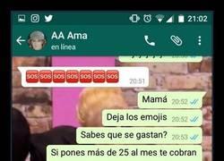 Enlace a 'Mamá, ¿sabes que los emojis se gastan?', épica broma por whatsapp