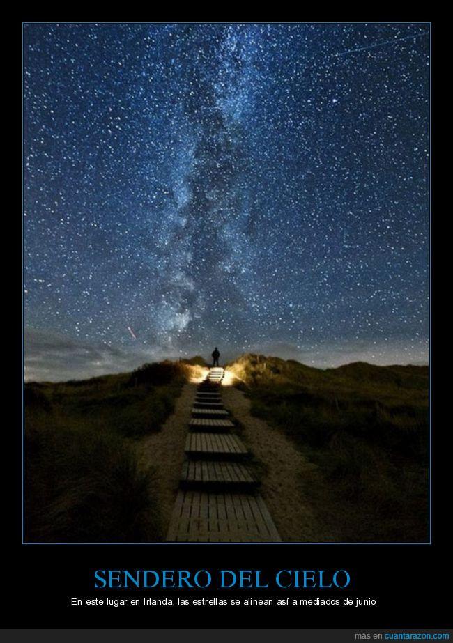 cielo,estrellas,heaven's trail,sendero del cielo