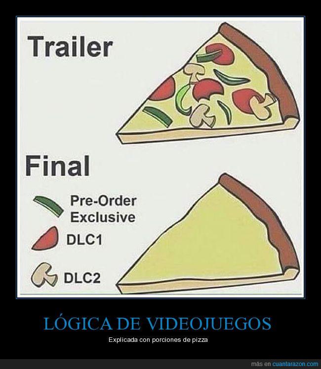 dlc,ingredientes,pizza,videojuegos