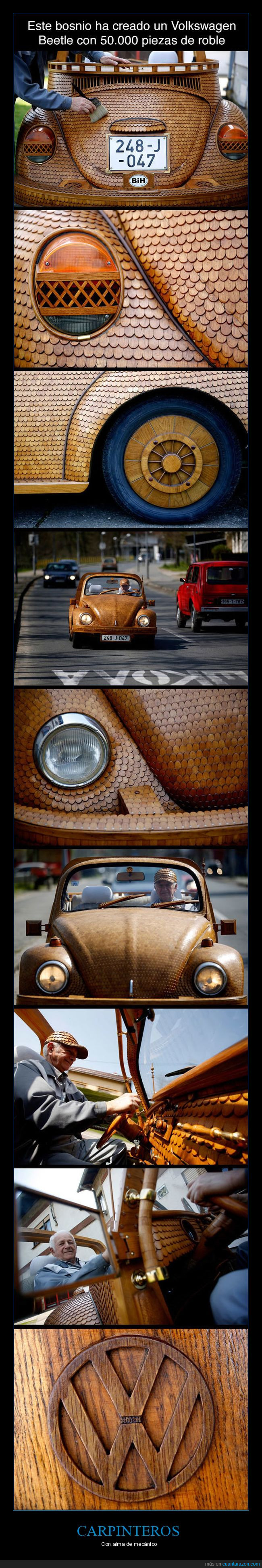 coche,madera,oak,piezas,roble,volkswagen beetle