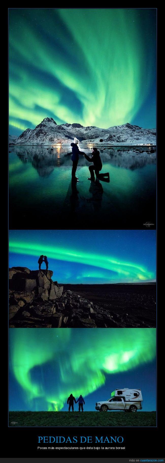 aurora boreal,matrimonio,pedida de mano