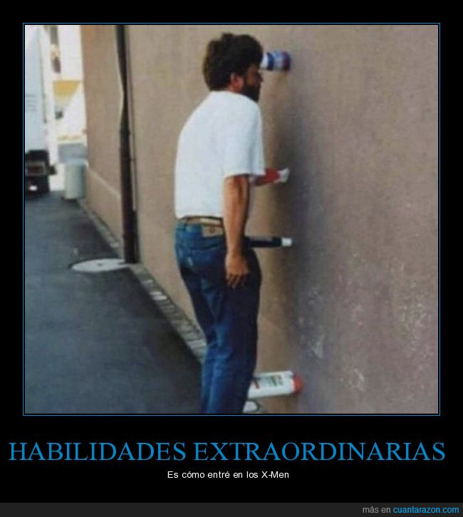 botellas,habilidades,pared,poderes,vertical,xmen