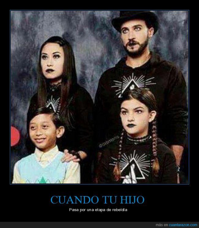 familia,góticos,hijo pijo,wtf
