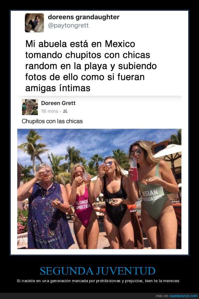 abuela,chupitos,fiesta,fiestera