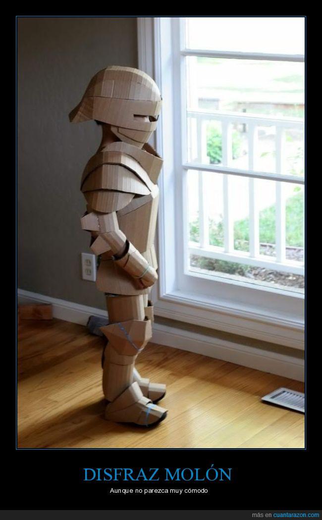 armadura,cartón,niño