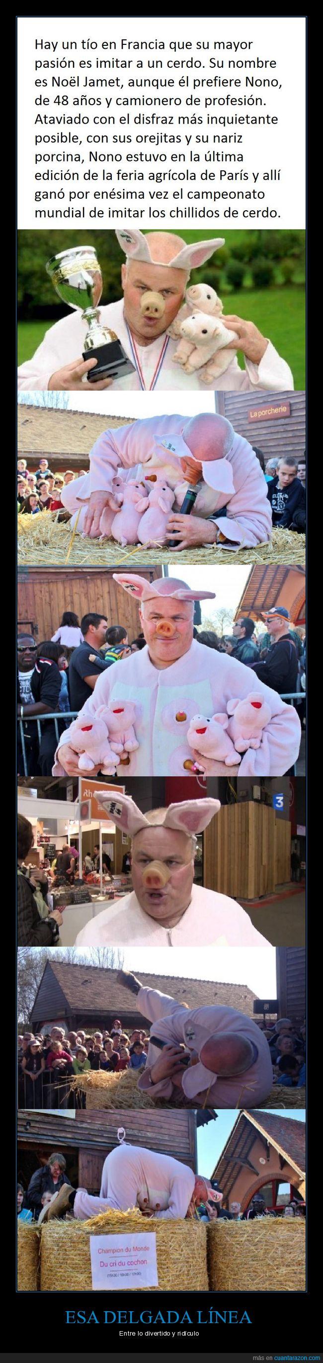 camionero,cerdo,concurso,ganador 11 veces,su madre estará orgulloso,tonto del pueblo