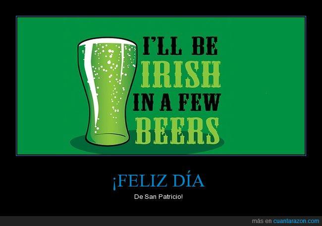 a beber,cerveza,día,San Patricio,verde