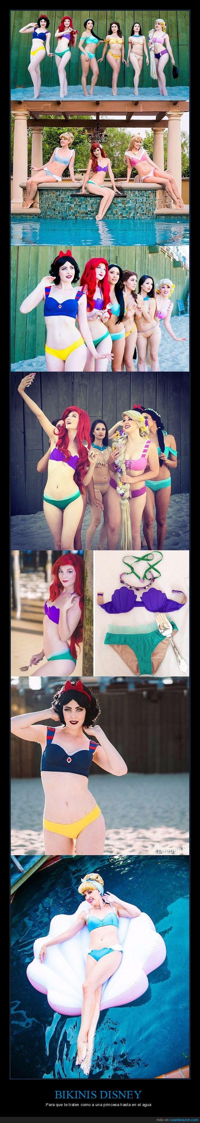 bañador,bikini,disney,piscina,princesas