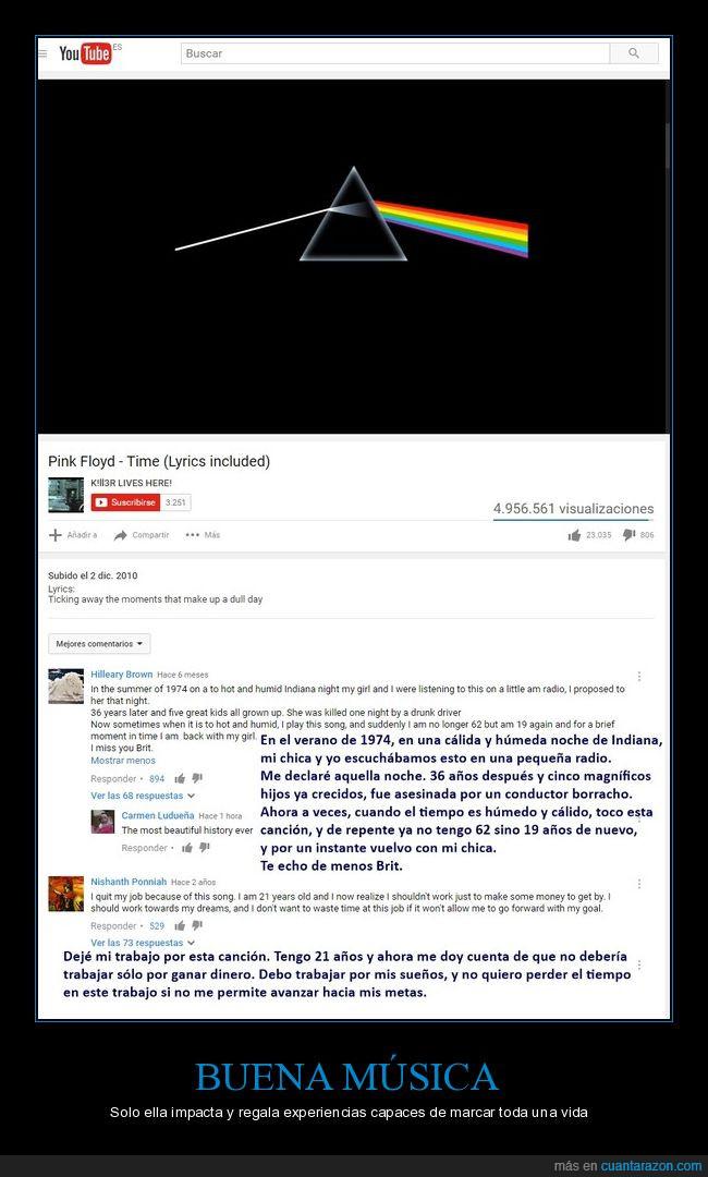 buena música,comentarios,Pink Floyd,Time,youtube