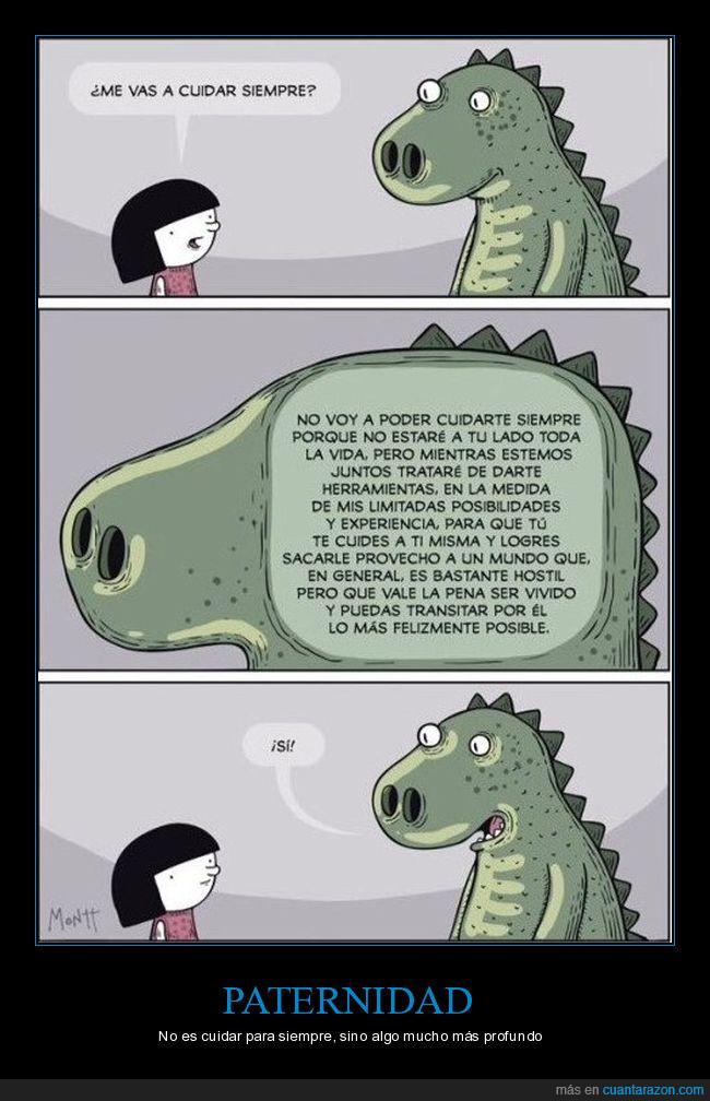 cuidar,dinosaurio,paternidad