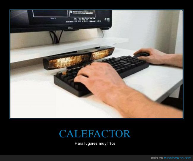 calefactor,pc,teclado