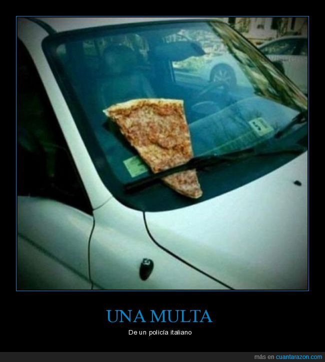 humor,Italia,multa,Pizza