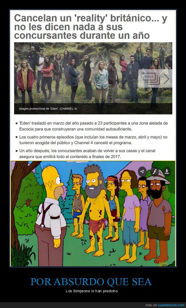 abandonados,Predicción,Reality,Simpsons,ven el futuro