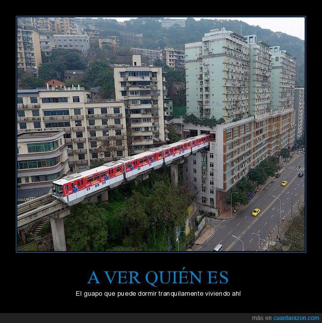 edificios,metro,tren
