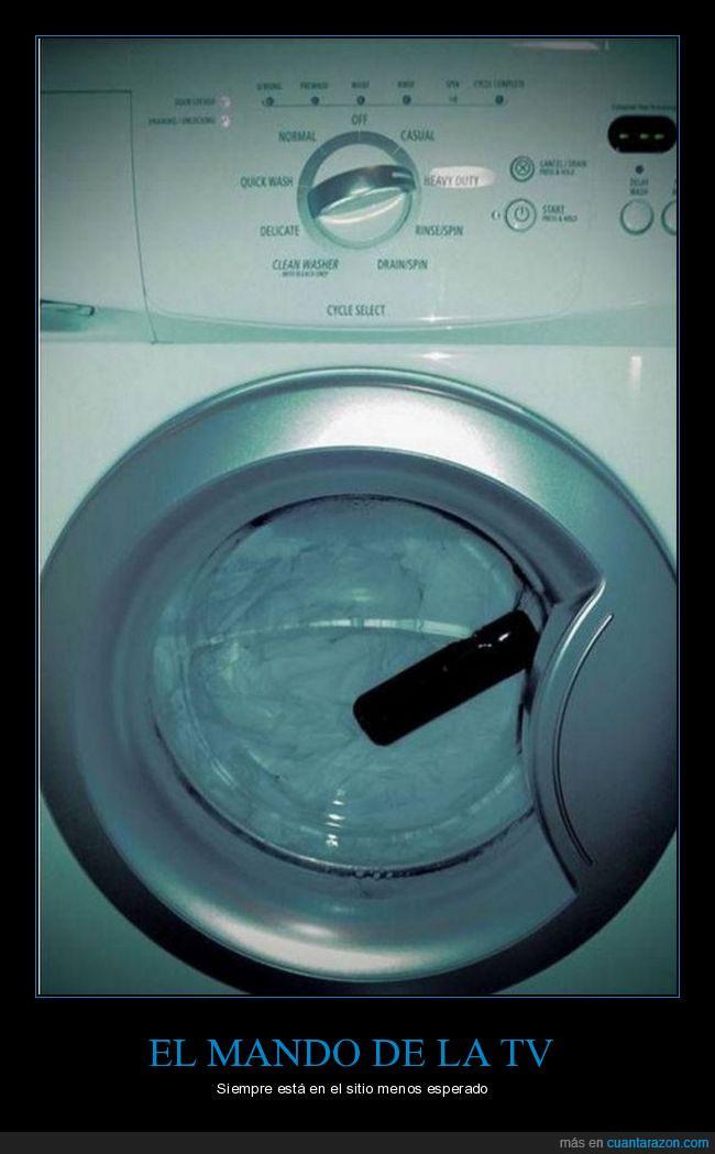lavadora,mando,perdido,televisión