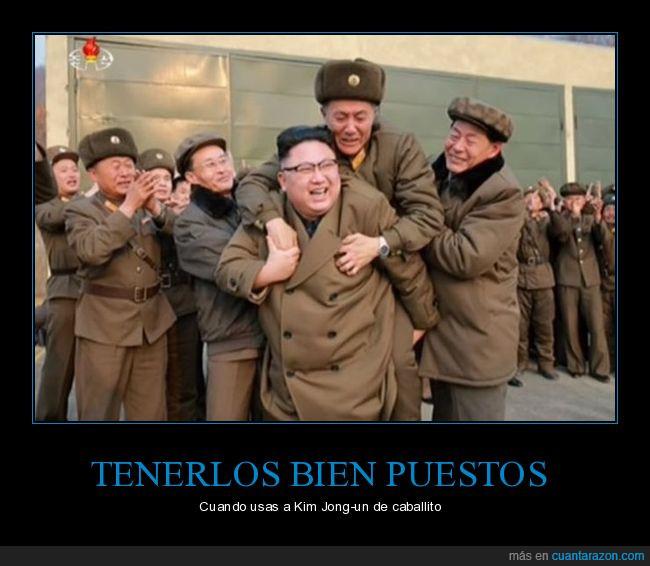 caballito,hay menos estrés en desarmar una bomba con un corta uñas,Kim Jong-un,un solo error y morimos todos,wiii