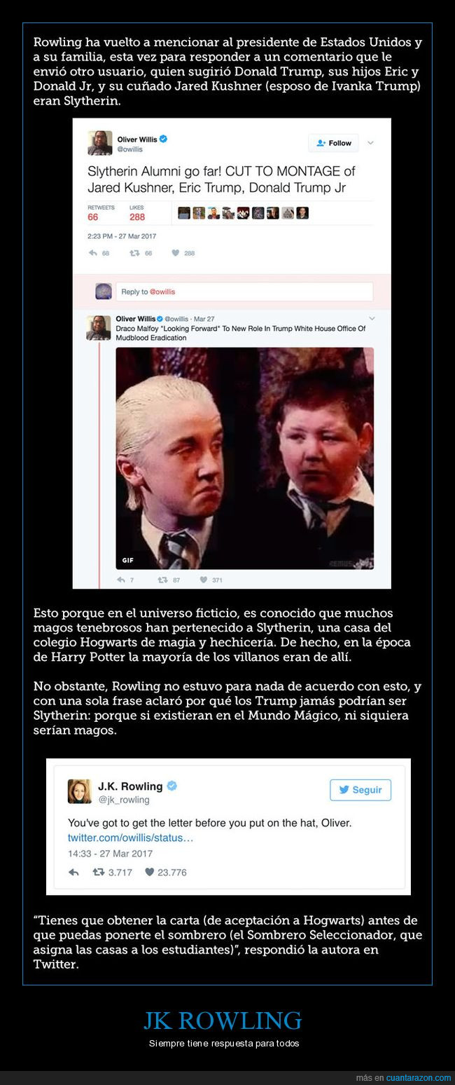harry potter,jk rowling,magos,slytherin,trump