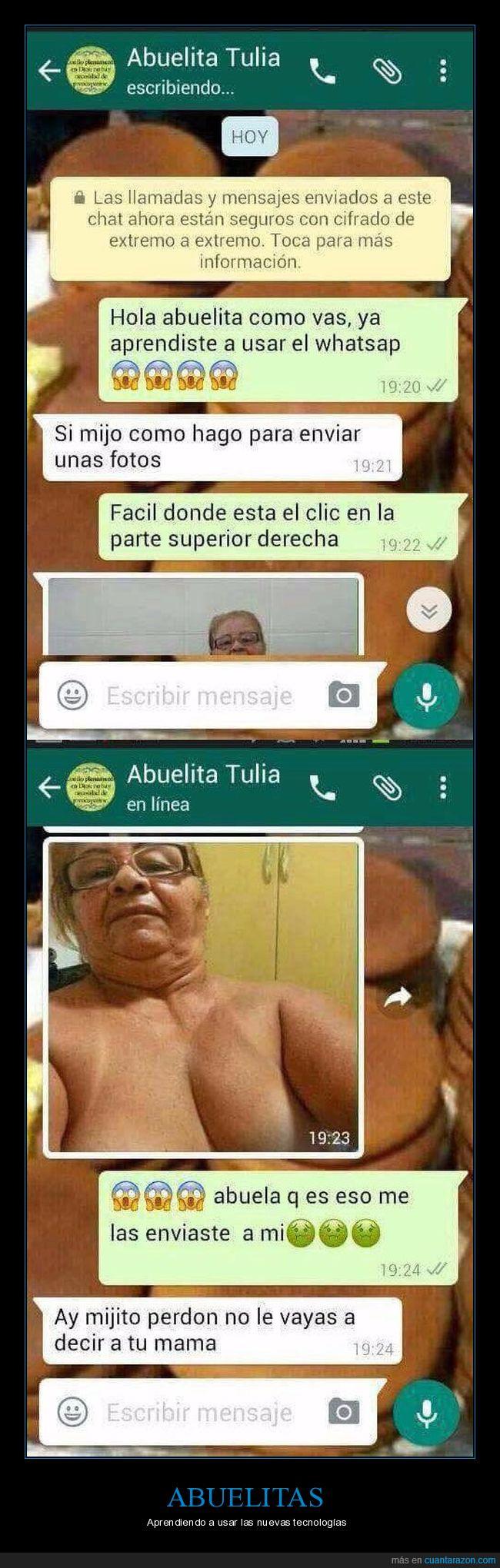 abuelitas,enviar,fotos,whatsapp