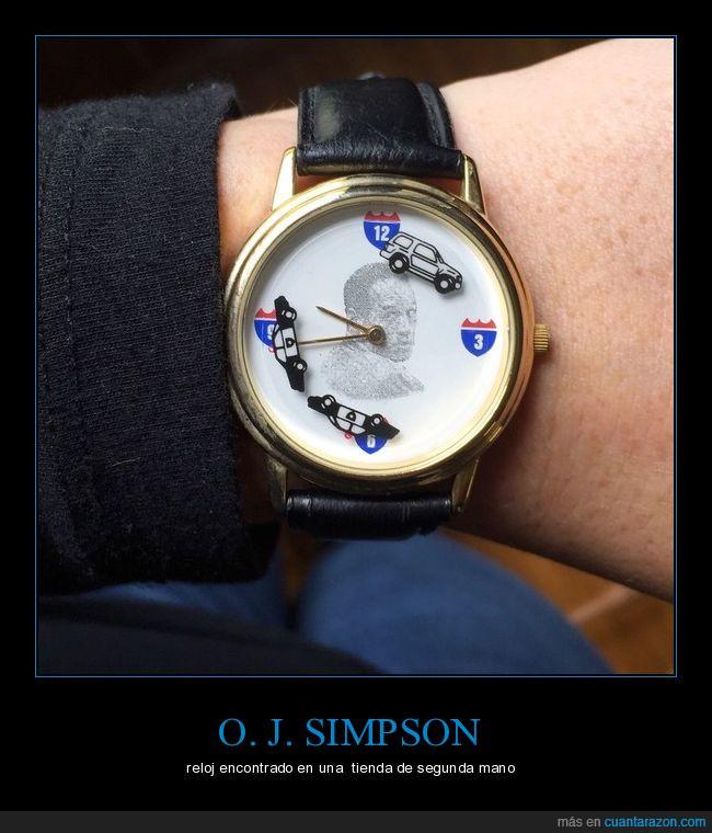 asesino,Jugador,O.J.Simpson,persecución,reloj