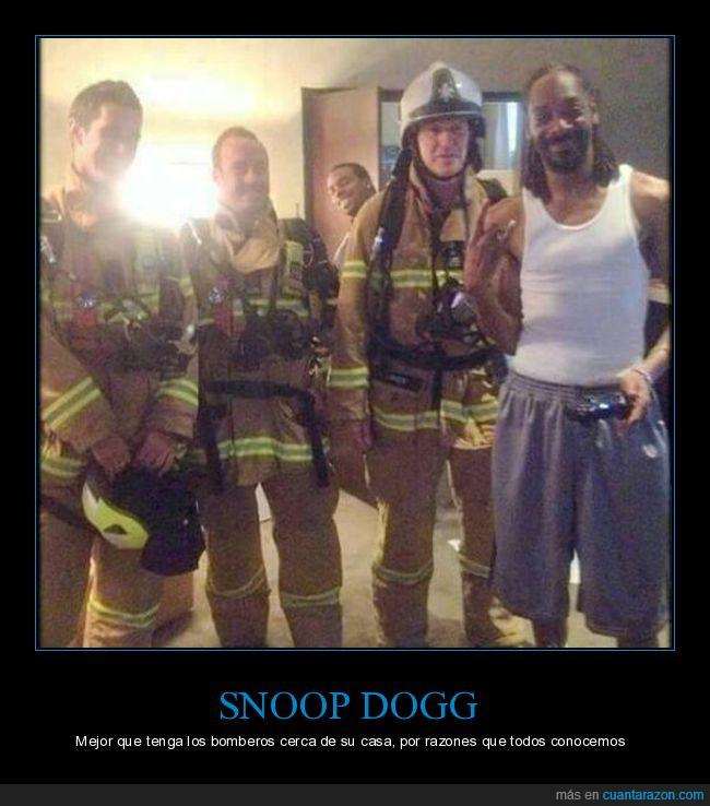 bomberos,hierba,snoop dogg