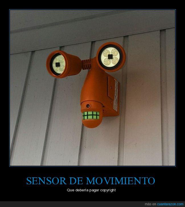futurama,robot,sensor de movimiento