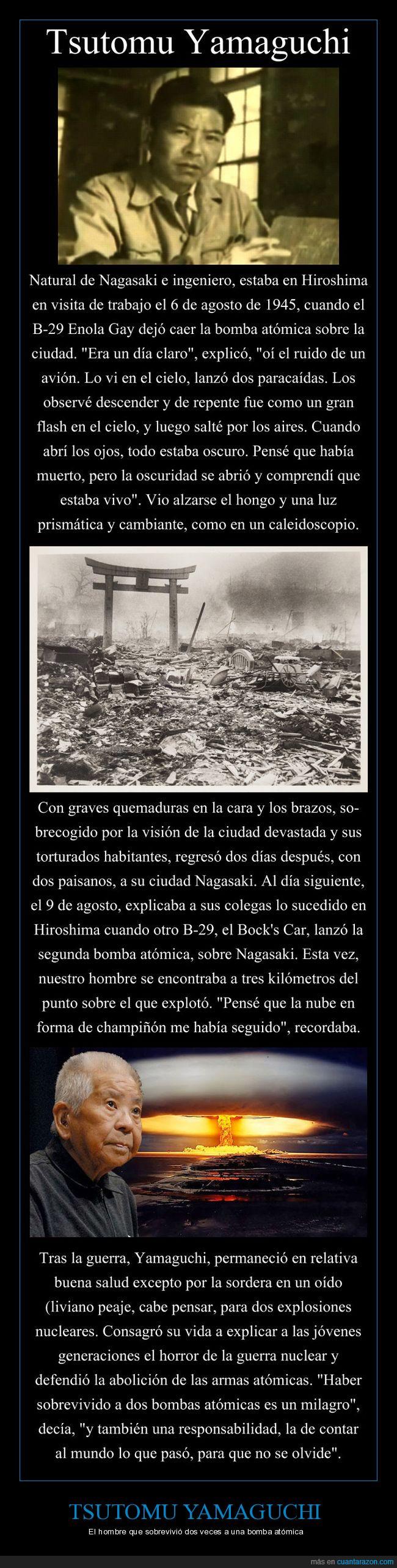 atómicas,Bombas,Hiroshima,Nagasaki,Tsutomu Yamaguchi