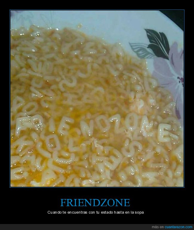friendzone,letras,sopa