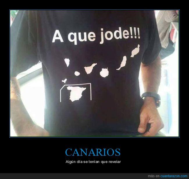 camiseta,cuadro,España,Islas Canarias,negra