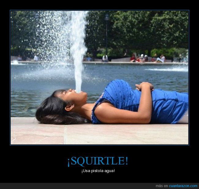 agua,fuente,perspectiva,pistola,pokemón,squirtle