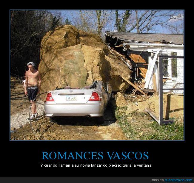coche,lanzar,piedra,romance,vasco,ventana