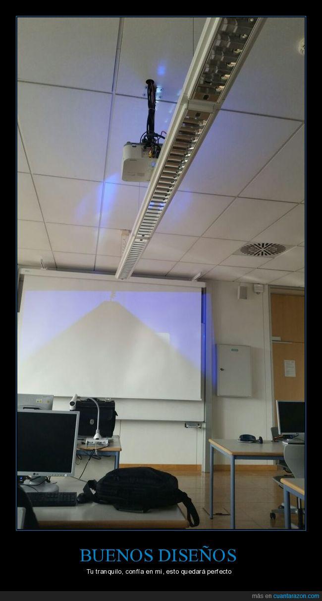 clase,diseño,luz,proyector