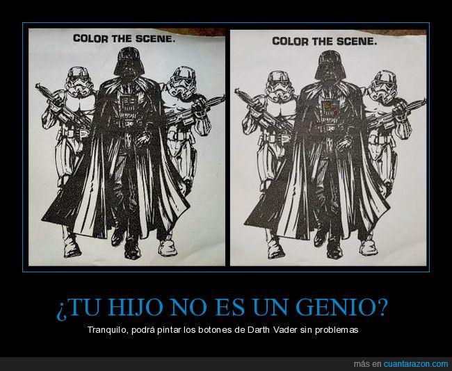 Darth Vader,genio,infancia,libro,pintar,StormTrooper