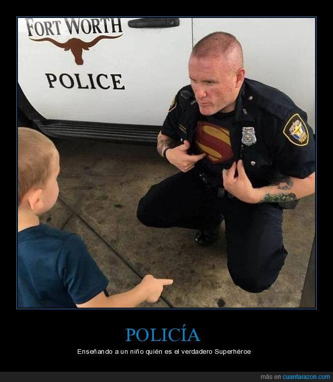 fortworth,niño,policía,superhéroe,superman