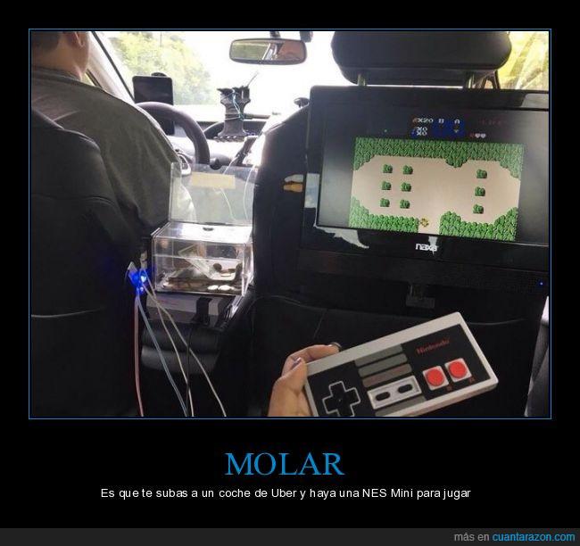 juar,nes mini,uber,videojuegos