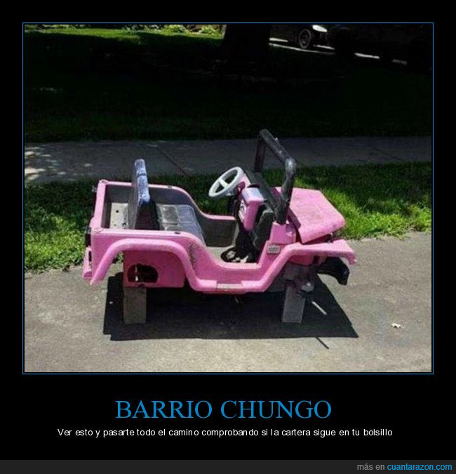 barrio,bolsillo,camino,cartera,chungo,coche,niña,rosa,ruedas