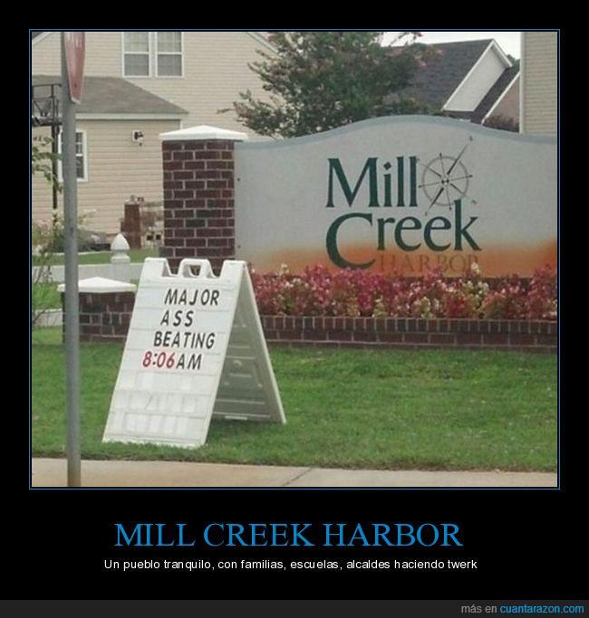 alcalde,culo,familia,golpeando,mill creek harbor,niños,pueblo,twerk