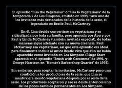 Enlace a Esta fue la condición de Paul McCartney para aparecer en Los Simpson