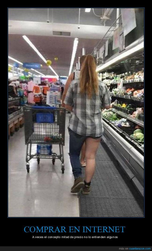 50%,camisa,mitad,pantalones,pierna,precio,supermercado